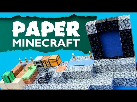 Paper Minecraft - Skyblock part 08 - Nether Portal