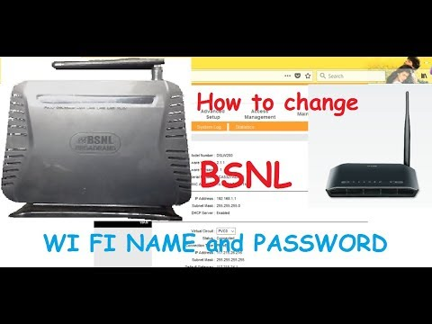 How to CHANGE BSNL WIFI NAME AND PASSWORD