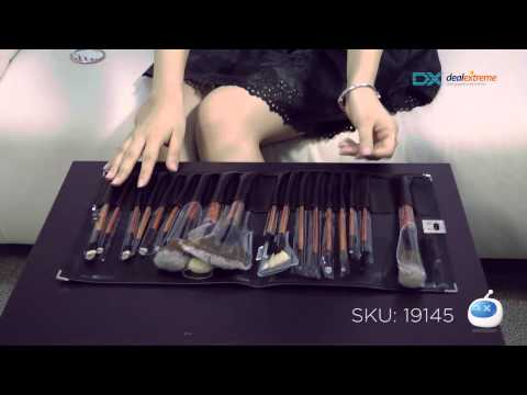 DX: Professional Make-up Brushes Set with Leather Case