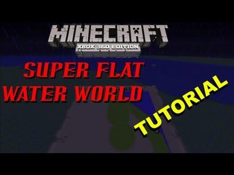 Minecraft Xbox | SUPER FLAT WATER WORLD | Tutorial