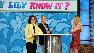 """Ellen Tests Lily Tomlins Knowledge with """"Will-y Lily Know It?"""""""