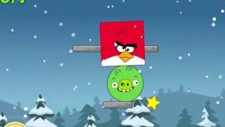 Мультик ИГРА для детей про ЭНГРИ БЕРДС. Красные птички энгри бердз против зеленых свинок Angry Birds