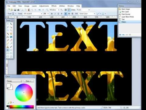 Paint.NET how to Type Transparent text