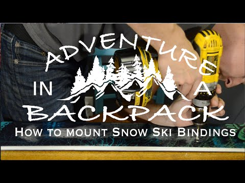 How to Easily Mount Snow Ski Bindings at Home for Free