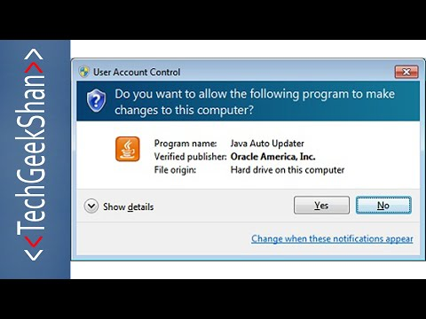 Disable Java Update Notification in Windows 10/8/7