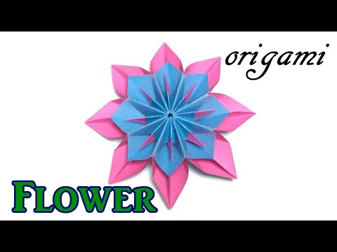 Amazing paper flower | Origami modular flower tutorial easy but cool for beginners