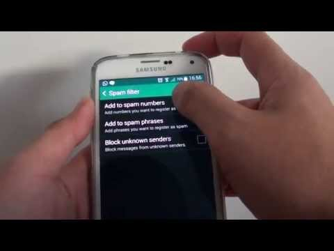 Samsung Galaxy S5: How to Block Phone Number From Sending You Spam Text Messages