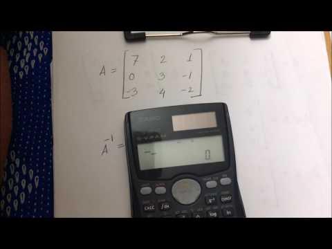 Matrix inverse calculation using Casio fx-991 MS scientific calculator