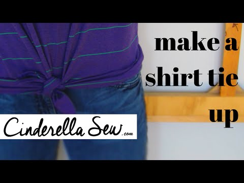 Make a tie up top - Knot the bottom of a shirt - Easy DIY Tshirt Tutorials