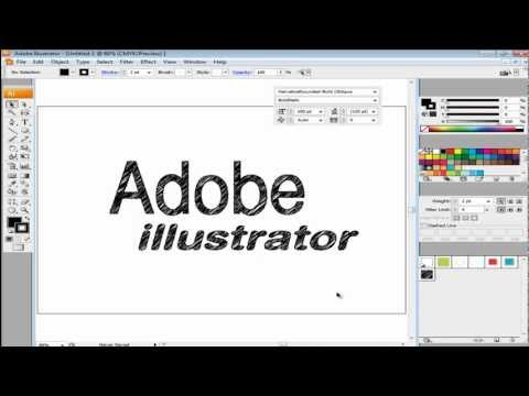 How to create a sketch effect in your typography in Adobe Illustrator