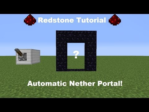 How To Build Automatic Nether Portal In mcpe 0.16.0!