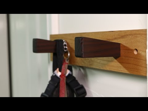 Making A Dog Leash Holder | Woodworking
