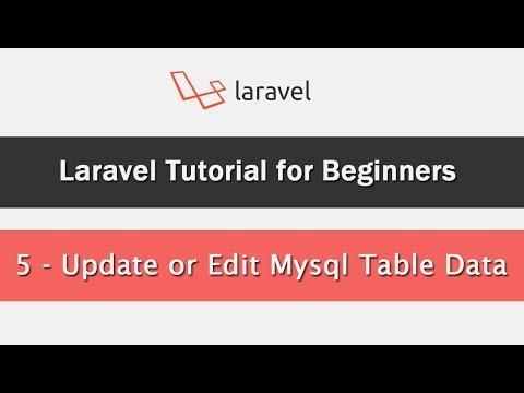 Laravel Tutorial for Beginners - Update or Edit Mysql Table Data