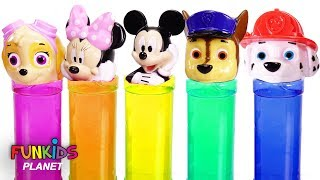 Paw Patrol & Mickey Mouse Slime Surprise Toys