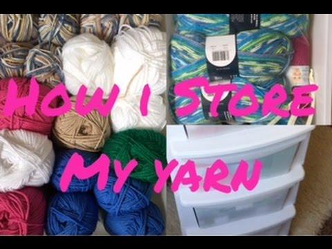 HOW I STORE MY YARN / YARN STORAGE |TeoMakes