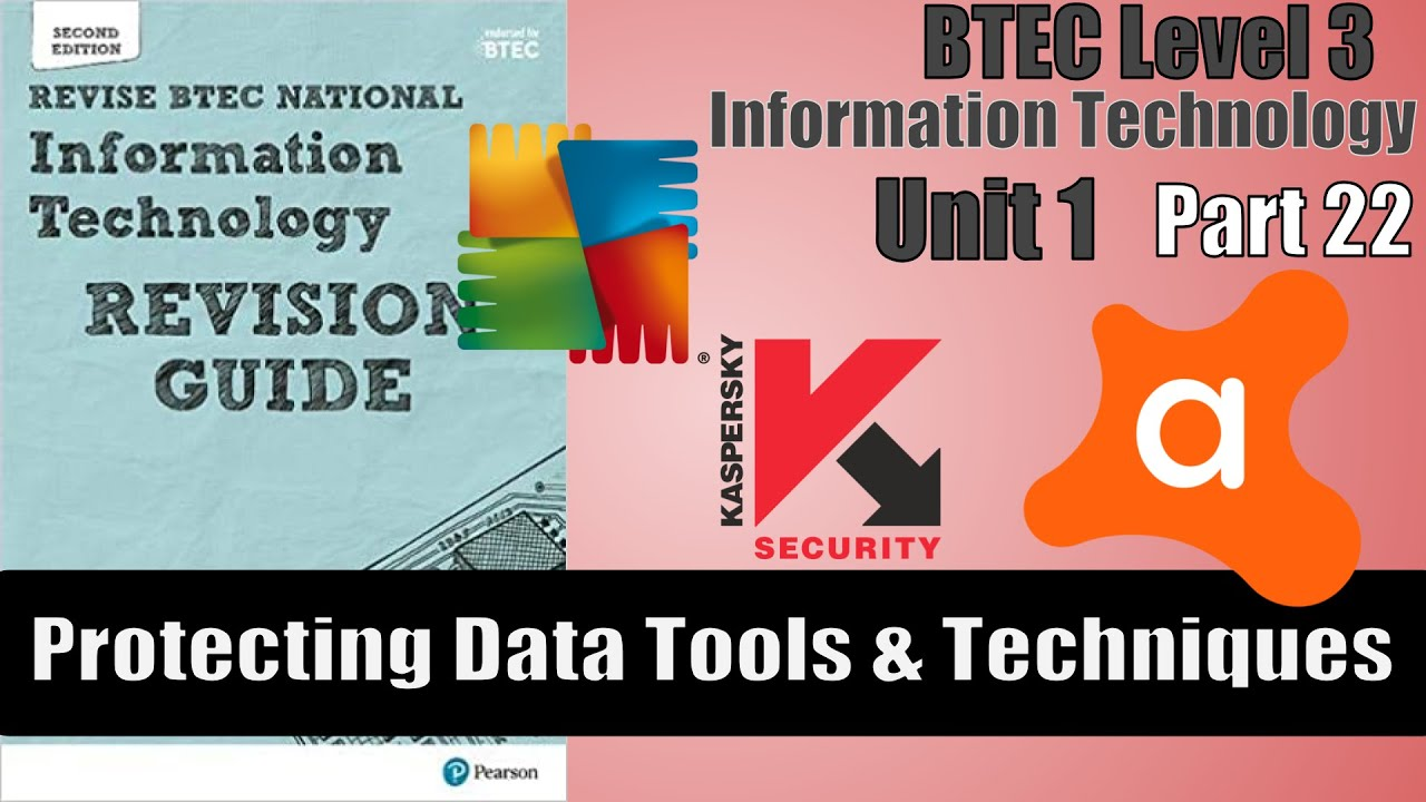 Part 22 - BTEC Level 3 - Information Technology - Protecting Data Tools and Techniques
