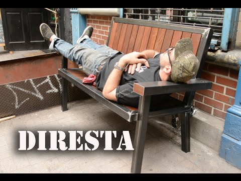 ✔ DiResta Steel & Wood Bench