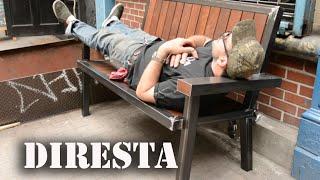 ✔ DiResta Steel & Wood Bench