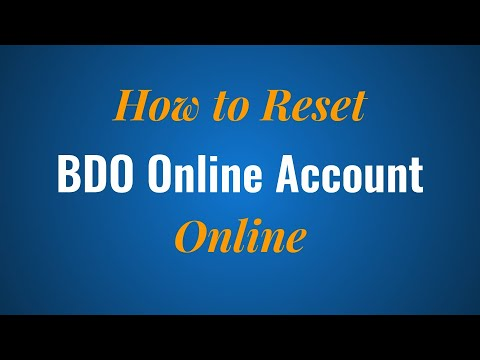 BDO Online Account Reset