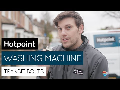 How to remove transit bolts from your washing machine   by Hotpoint
