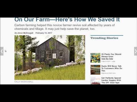 Revive Dead Soil With Carbon Farming
