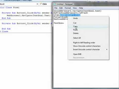 vb How to make a simple webbrowser