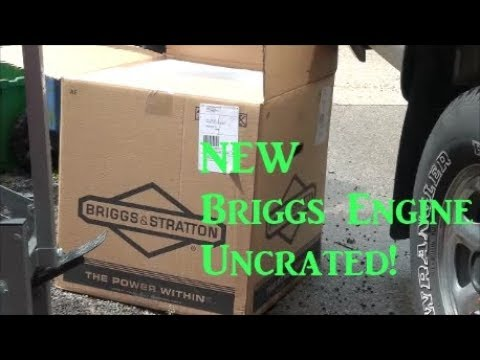 BRAND NEW Briggs and Stratton Engine UNCRATED! 24 Horsepower OHV Twin Cylinder