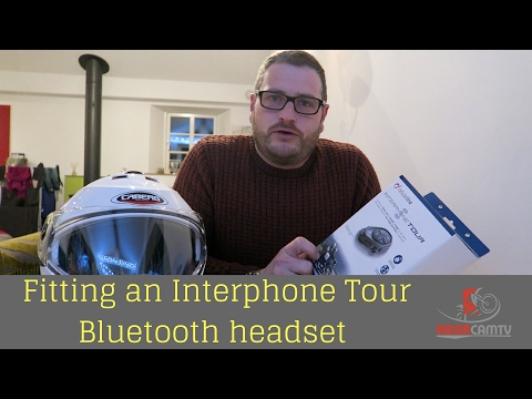 Fitting an Interphone Tour Bike Intercom System to a Caberg Helmet