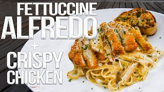 Download The Best Fettuccine Alfredo with Chicken | SAM THE COOKING GUY 4K Video