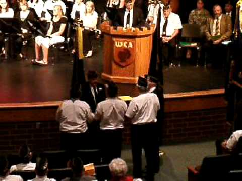 WCA Memorial Day program ceremonial flag burning