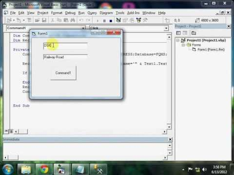 Connect SQL Server and Visual Basic 6.0