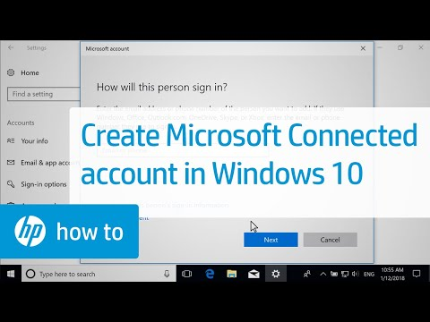 How To Create a Microsoft Connected Account For Windows 10