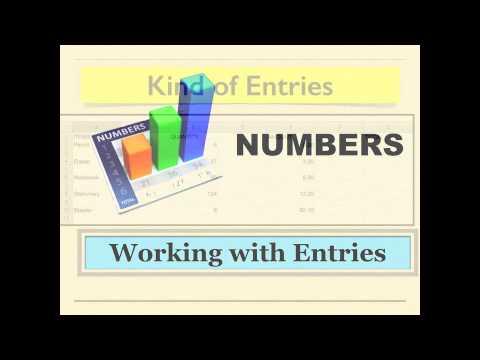 Spreadsheet tutorial 1 (Numbers)