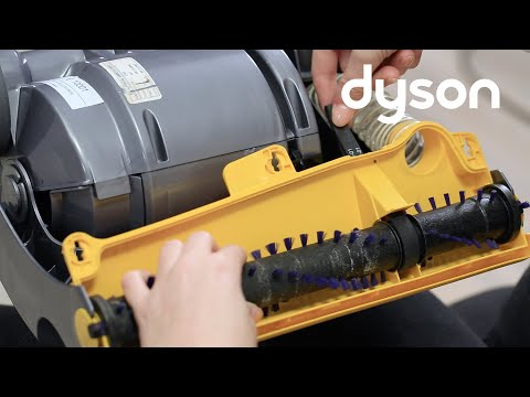Dyson DC07 and DC14 upright vacuums without brush control - Replacing the belt (US)