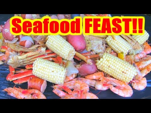Backyard Seafood Boil!! - Make Your Own Seafood Boil at HOME!!