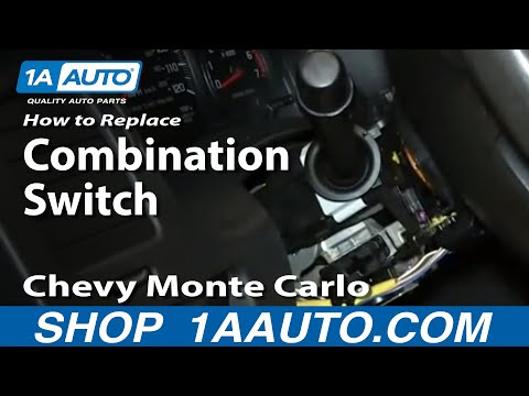 How To install Replace Wiper Cruise High Beam Turn Signal Switch 2000-05 Monte Carlo