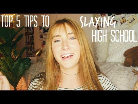 What I Learned In High School: MY TOP 5 TIPS TO SLAYING HIGH SCHOOL | Kaela Kilfoi