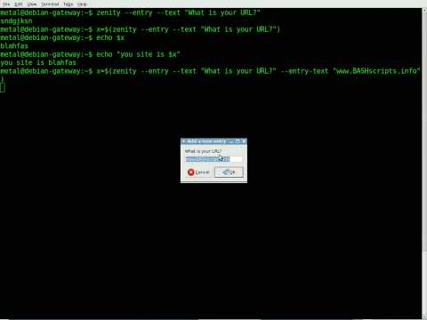 BASH tutorial - GUI's with Zenity Part #1