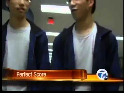 Identical twin brothers achieve perfect ACT scores