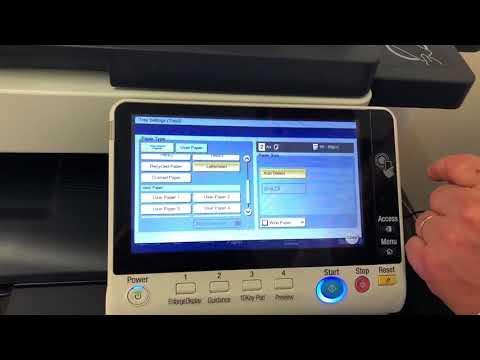 Konica Minolta 8 series - How to change paper type