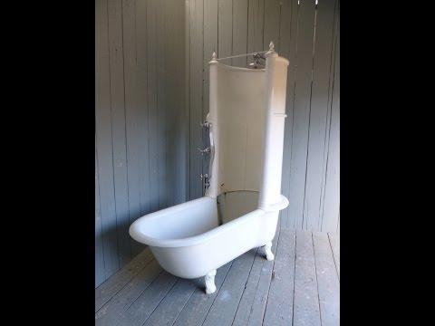 Antique Victorian Cast Iron Canopy Shower Bath - Bathroom UKAA