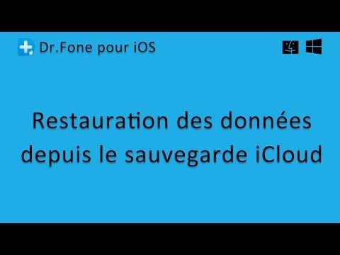 Dr.Fone pour iOS: Restauration des données depuis le sauvegarde iCloud