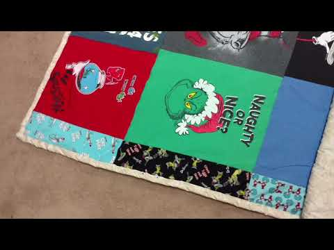 How To Bind / Make Dr. Seuss T-Shirt Quilt Part 4