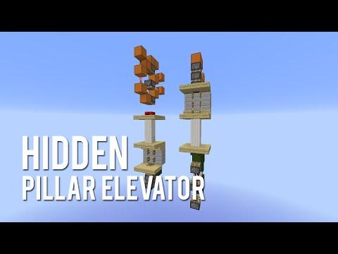 Redstone: Hidden Pillar Elevator [Tutorial]