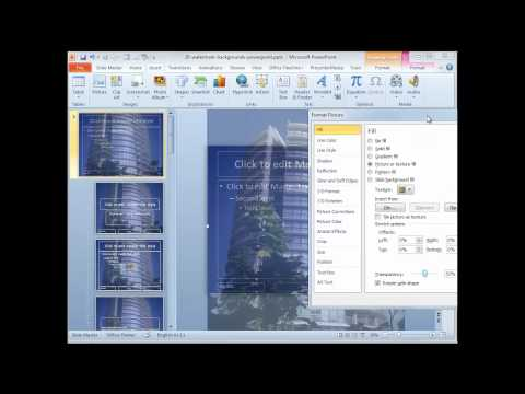 Watermark Backgrounds in PowerPoint 2010