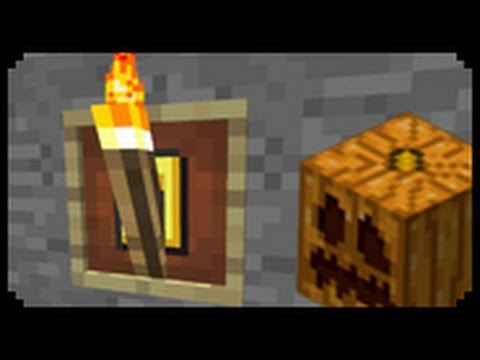 ✔ Minecraft: How to make Fancy Torches