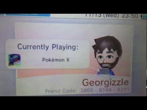 Add my Nintendo 3DS Friend Code for Pokemon X & Y!