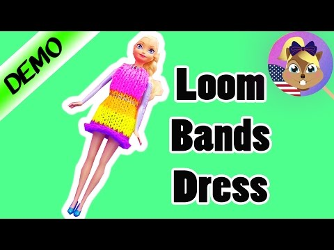 Loom Bands Dress for Elsa from Frozen – Ice Princess Queen – DIY Loom Bands Disney Gown Outfit