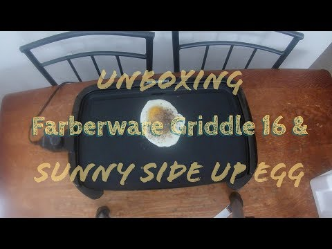 Farberware Electric Griddle 16 | Making Sunny Side Up Egg