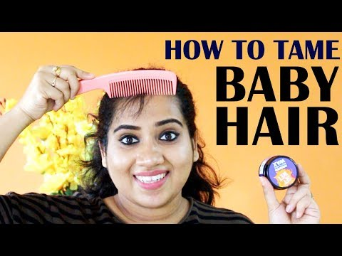 How To Hide / Tame Baby Hairs in 30 Seconds| How to Control Baby Hairs | Happy Pink Studio